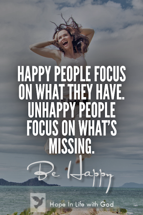 Be happy focus on your blessings…