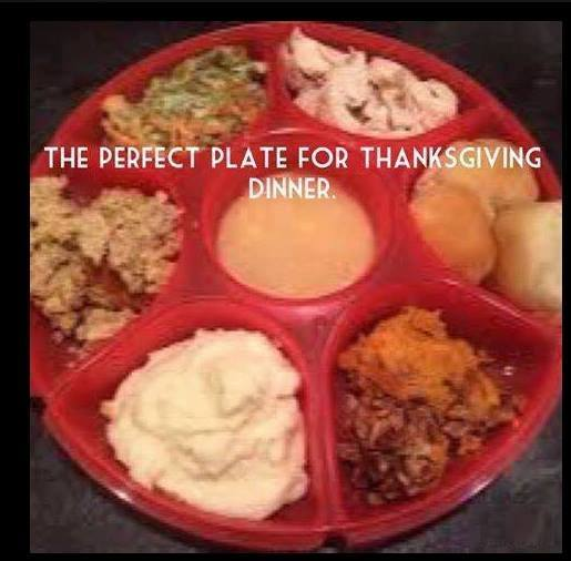 For those of you that do not like your food to touch!~  Happy Thanksgiving! :)