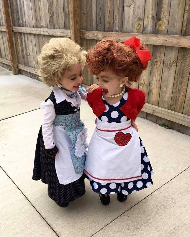 Lucy and Ethel Halloween costumes!