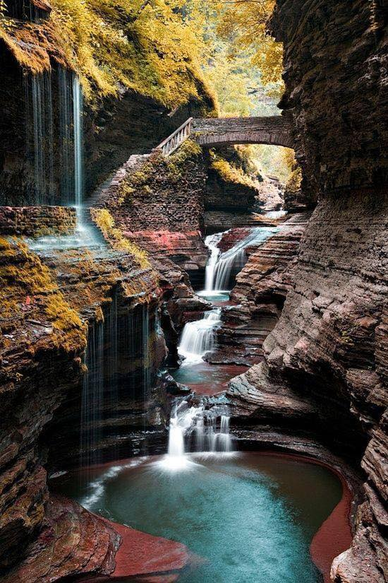 """Watkins Glen State Park, NY""  One word for this photo? :)"