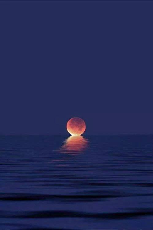 When the moon kisses the ocean.