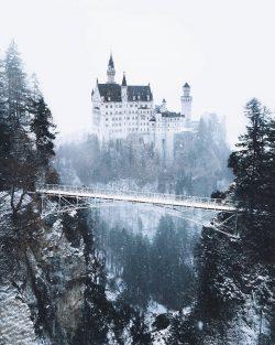 A fairytale winter wonderland Neuschwanstein Castle, Germany.