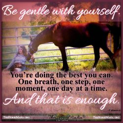 Be gentle with yourself.  The Horse Mafia®  Cowgirl Charity and The Horse Mafia®