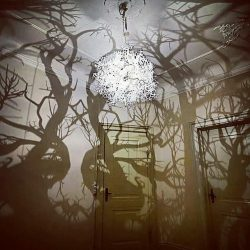 Chandelier that turns your room into a forest! :o