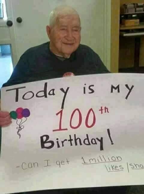 Happy Birthday!! <3Happy 100th Sir!