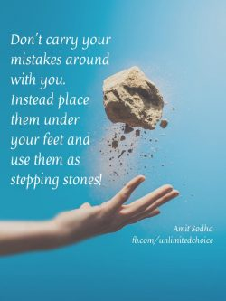 Instead build stepping stones!