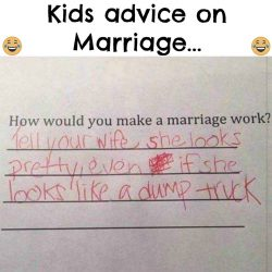 Kids advice on Marriage.. :D