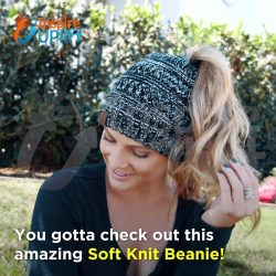 LOVE these SUPER comfy & Stylish ponytail beanies!! ❤️