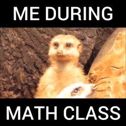 Me During Math Class. 😄😄