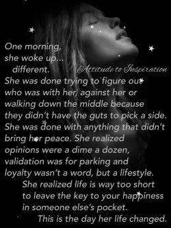 One morning, she woke up … different.