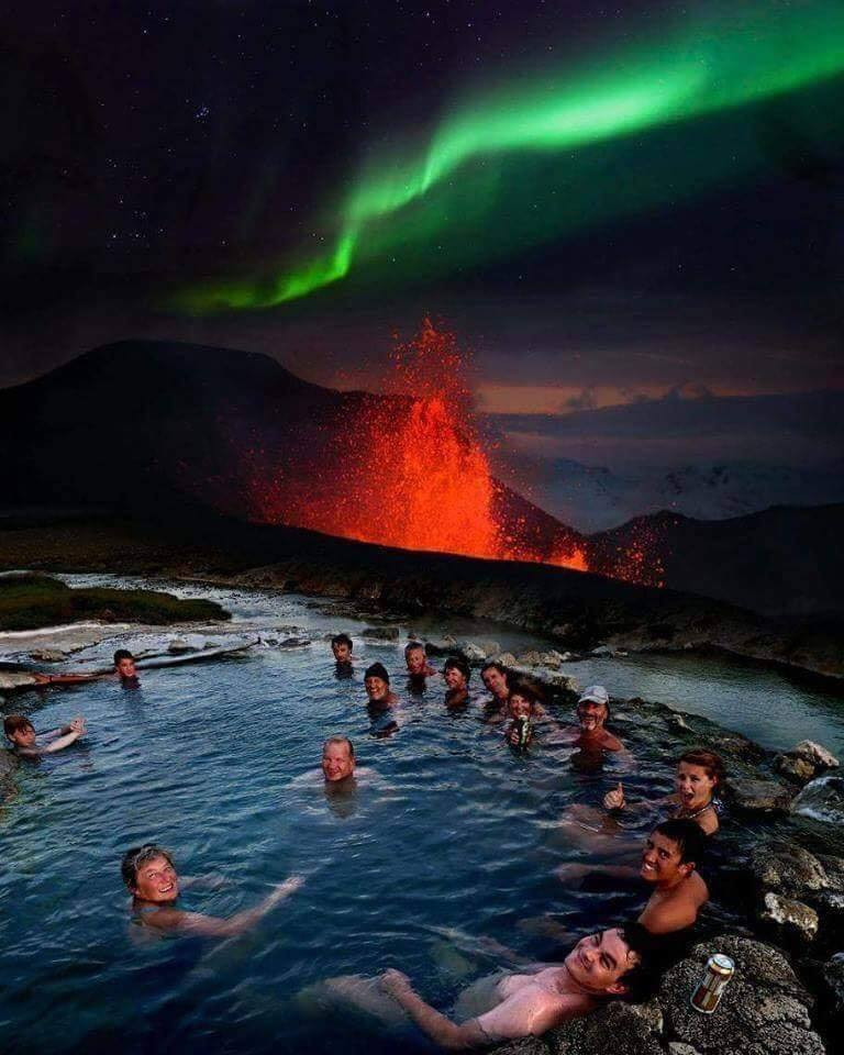 Only in Iceland you can get this once in a lifetime view! :o