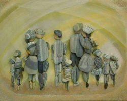 Pebble Art – Erzsébet Szilajka  Love it! <3
