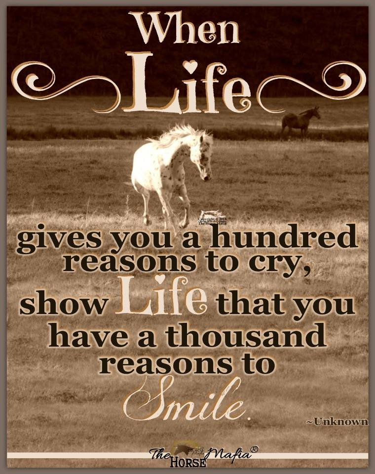 Show life that you have a thousand reasons to smile.  The Horse Mafia®