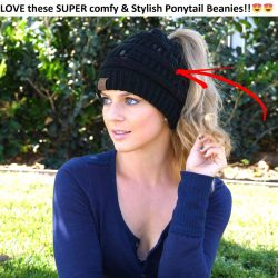 Soft Knit Ponytail Beanies!