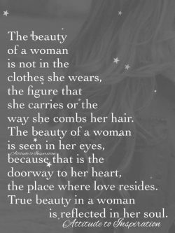 The beauty of a woman …