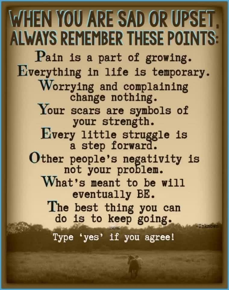 When you are sad or upset, always remember these points…  ~ The Horse Mafia <3  Our PUB ...
