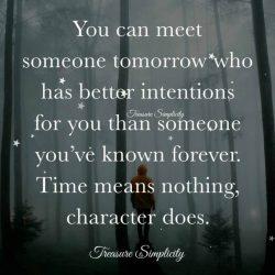 You can meet someone tomorrow …