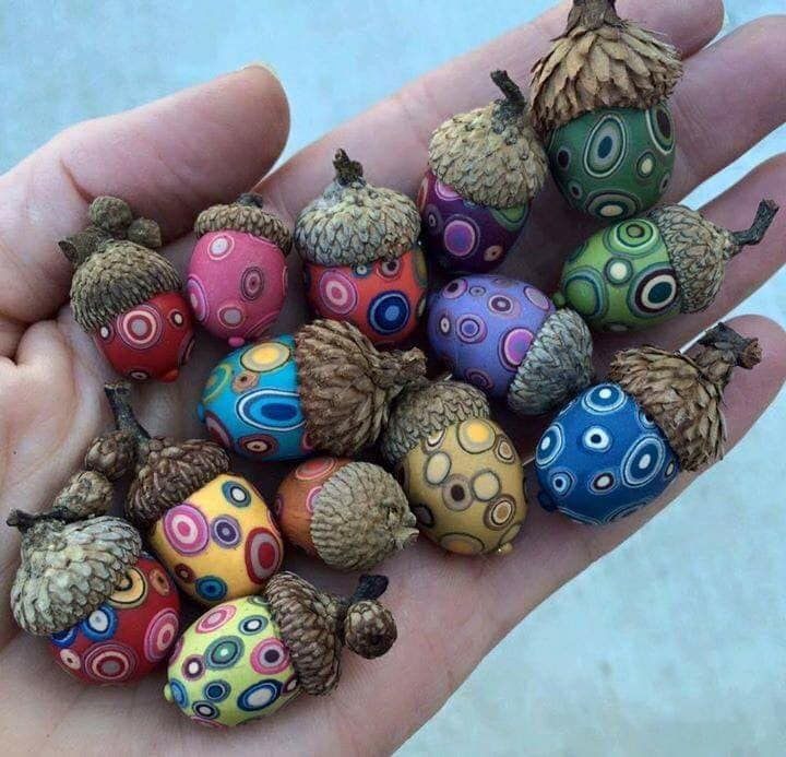 Your thoughts on these painted acorns?