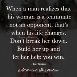 <3 Build her up and let her help you win …