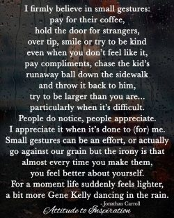 <3 I firmly believe in small gestures …