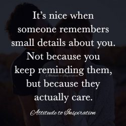 <3 It's nice when someone remembers small details about you …