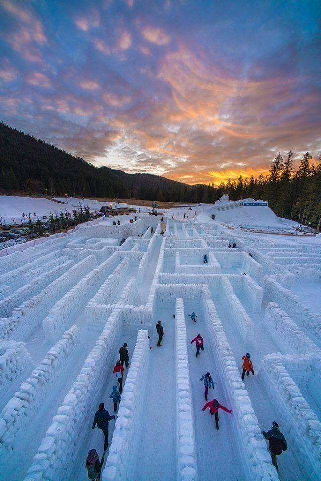 A maze of snow in Zakopane, Poland