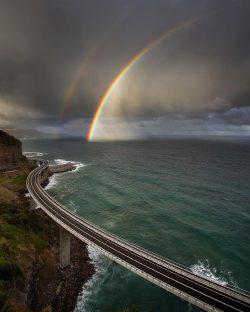 Breathtaking sky Sea cliff Bridge,South coast, Australia <3