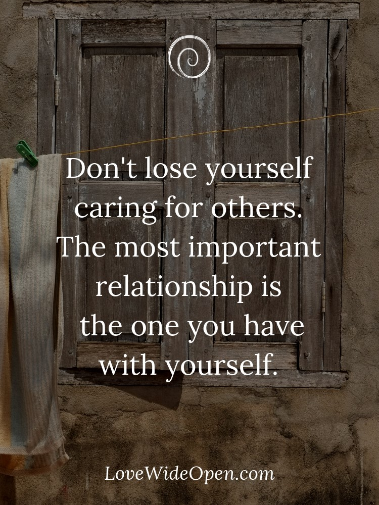 Lose a in does it relationship to what yourself mean Dealing with