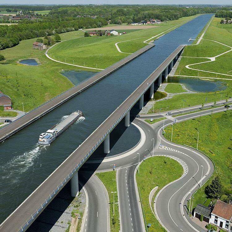 Sart Canal Bridge, Belgium… Amazing.