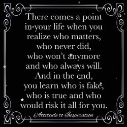 There comes a point in your life …