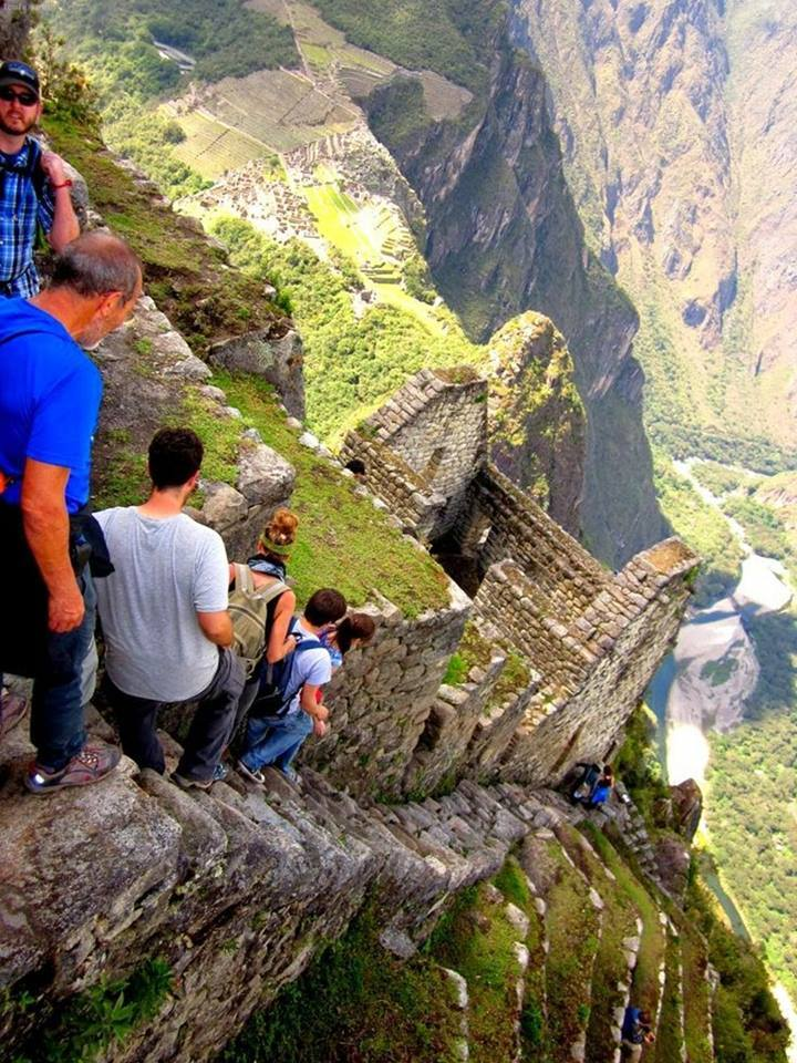 Walking down the stairs at Machu Picchu. Could you?