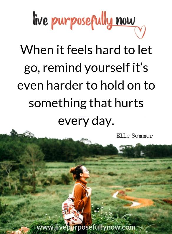 """""""When it feels hard to let go, remind yourself it's even harder to hold on to something th ..."""