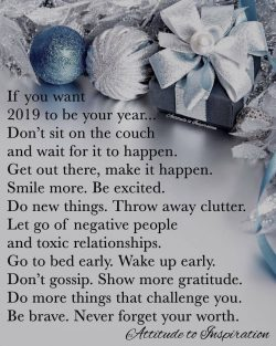 <3 If you want 2019 to be your year …